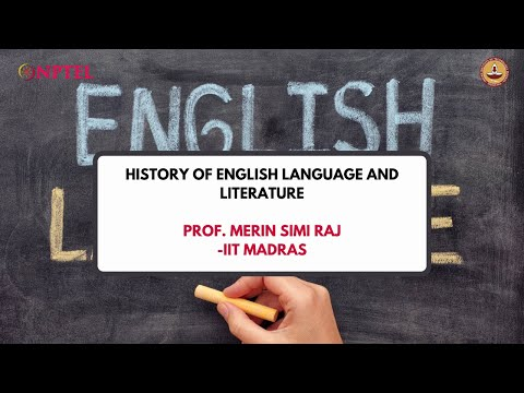 Introduction - History of English Language and Literature