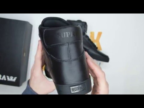 Supra Vaider Classic - Black / Black - Walktall | Unboxing | Hands On