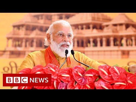 India PM Modi lays foundation for Ayodhya Ram temple amid Covid surge - BBC News