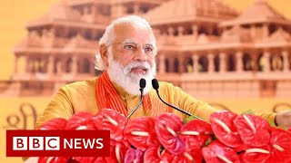 India PM Modi lays foundation for Ayodhya Ram temple amid Covid surge - BBC News