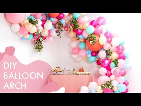 DIY Floral Balloon Wedding Arch | Makeful