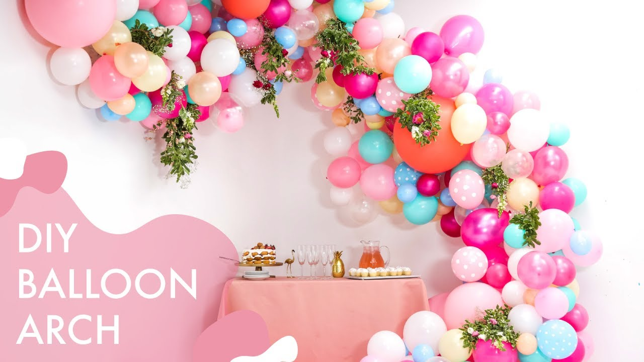 Diy Floral Balloon Wedding Arch Makeful Youtube