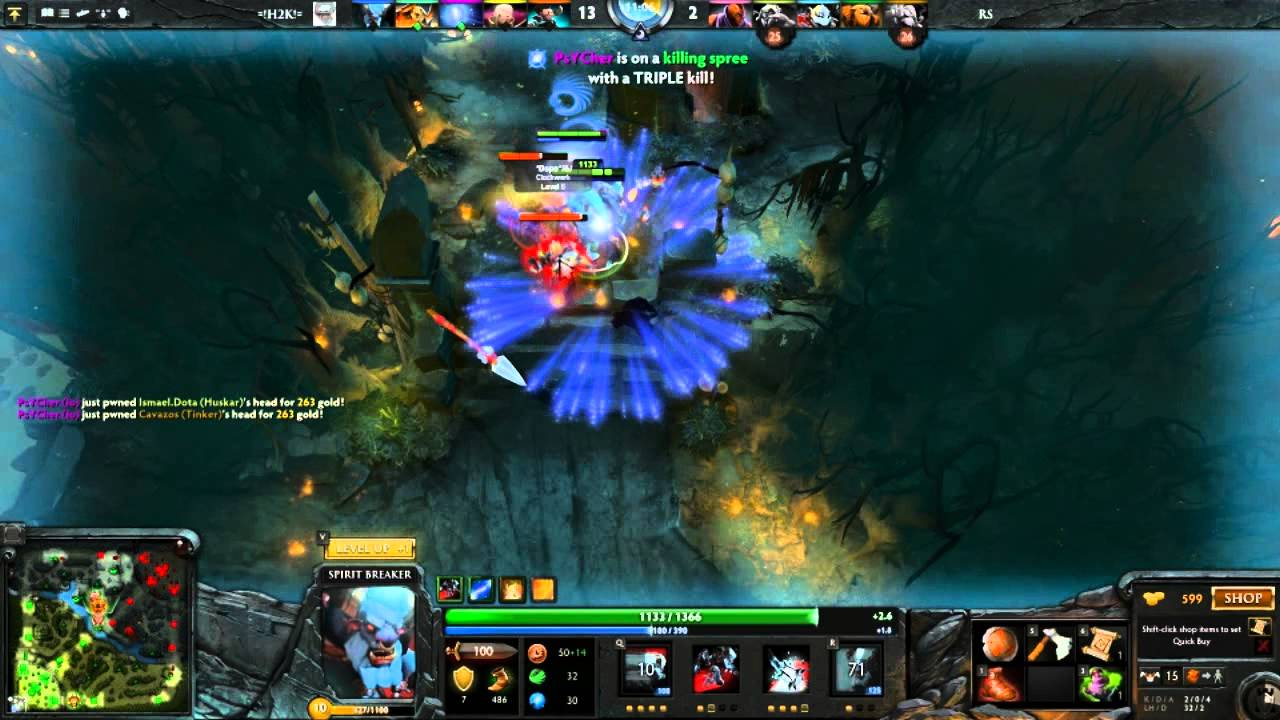 tutorial de dota 2 spirit breaker youtube