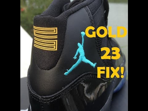 quality design ff955 e503a GOLD Gamma Blue 23 fix! Best Replica gamma blue Jordan 11 - YouTube