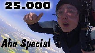 Magicbiber Fallschirmsprung - das 25.000er Abo-Special