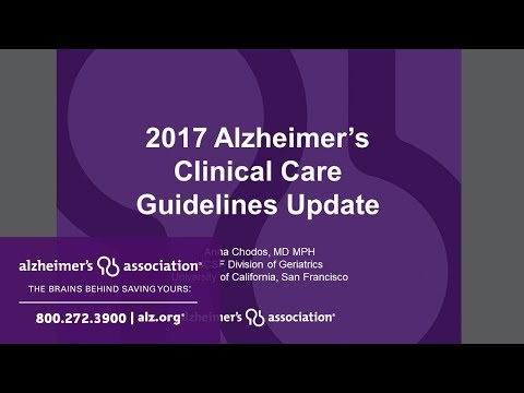 Introducing the 2017 California Clinical Care Guidelines for Alzheimer's Disease Management