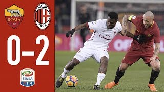 Highlights Roma 0-2 AC Milan - Serie A 2017/18