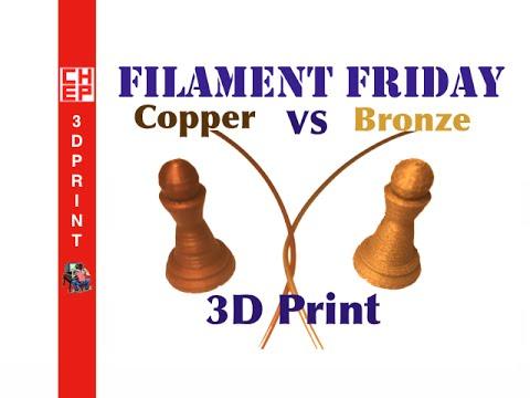 Filament Friday #31 - Metal Infused Filament, Copper vs Bronze on Repetier Da Vinci 1.0A