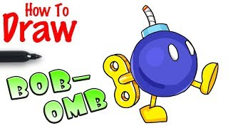 How to Draw Bob-omb | Super Mario Kart