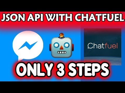 How to use JSON API with chatfuel only by 3 steps