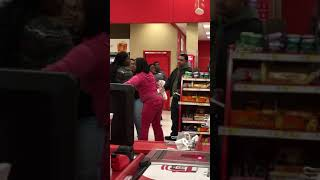 A heated argument in Target department store in Valley Stream, NY