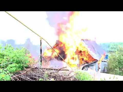 В центре Уфы сгорели два жилых дома
