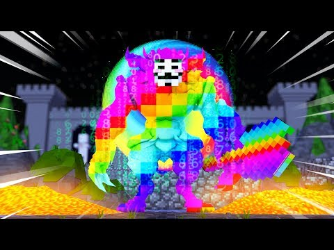Minecraft - HACKER BECOMES THE RAINBOW LUCKY BLOCK MONSTER!