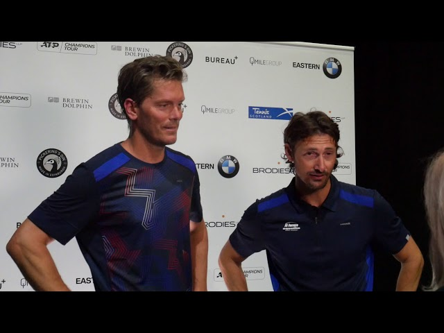 Juan Carlos Ferrero and Thomas Enqvist | Brodies Tennis Invitational 2019