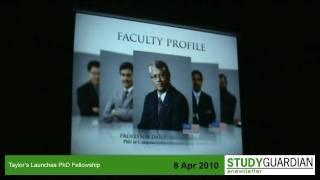 Taylors Launches PhD Fellowship