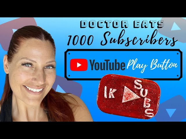 Real Doctor Eats Youtube Play Button | 1000 Subscribers (Fail!!!!)