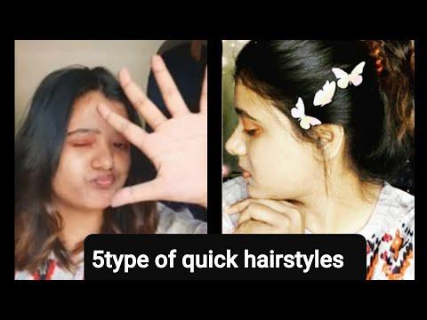 5type of quick hairstyles || Trishita bera