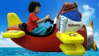 Indoor Playground For Kids – Bé Tập Lái Máy Bay Và Ô Tô ❤ AnAn ToysReview TV ❤