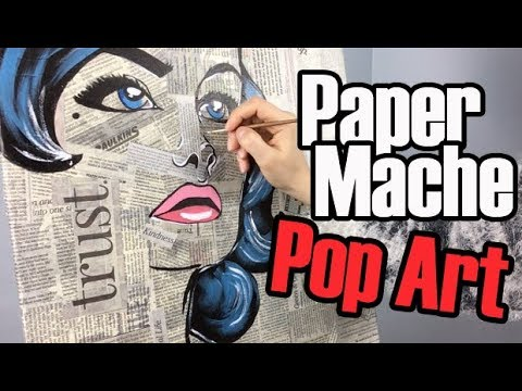 Paper Mache Pop Art Painting | Acrylic Painting Art Ideas on Canvas