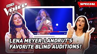 The Favorite Blind Auditions of Coach LENA MEYER-LANDRUT of The Voice Kids Germany! 😍   Top 10