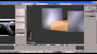 видео урок low poly АК 47 часть 1(2)