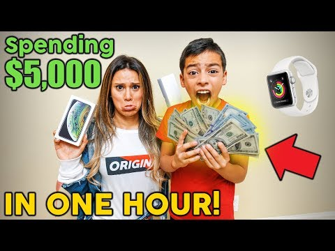 SPENDING $5,000 IN ONE HOUR CHALLENGE! **8 YEAR OLD SHOPPER** | The Royalty Family