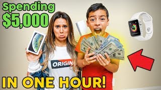 Spending 5 000 In One Hour Challenge 8 Year Old Shopper The Royalty Family MP3