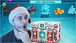 OMG! THE BEST SUPER CHEST CRATE OPENING! WE UNLOCKED 5 WEAPONS! | Pixel Gun 3D