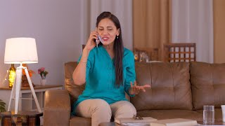 Indian woman having a heated argument on the phone