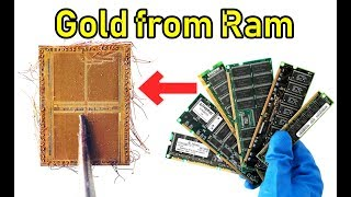 gold recovery ram chips Old  Open the package of ram, you see the gold wire inside the IC chip