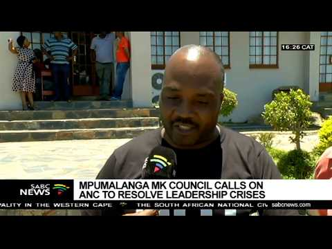 Mpumalanga MK calls on ANC to resolve leadership crisis