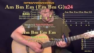 controlla drake guitar lesson chord chart capo 6th am bm em g