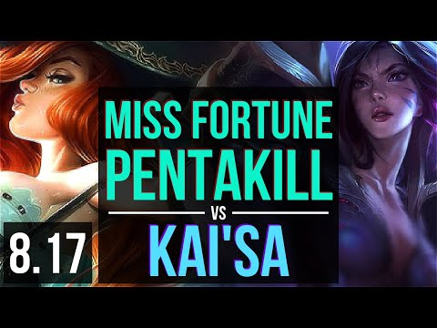 MISS FORTUNE vs KAI'SA (ADC) ~ Pentakill, KDA 17/1/10, Legendary ~ Korea Diamond ~ Patch 8.17