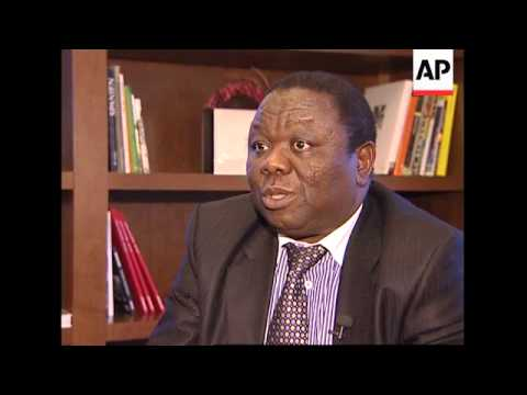 Opposition leader Morgan Tsvangirai interview