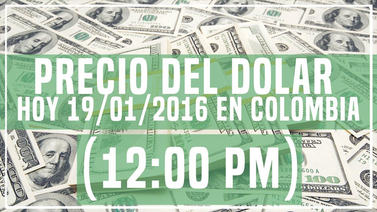 Precio del dolar hoy 12 00 pm en colombia hoy 19 de for Precio del hierro hoy