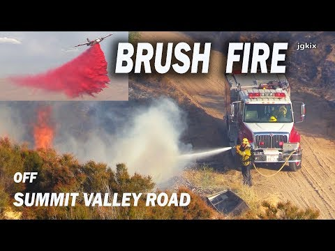 Brush FIRE off Summit Valley Rd. Sept  2 2019