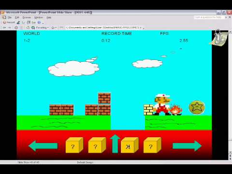 Super Mario PowerPoint Game - YouTube