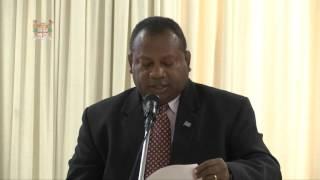 Fijian Minister Hon. Inia Seruiratu officially opened the Post Disaster Needs Assesment Training