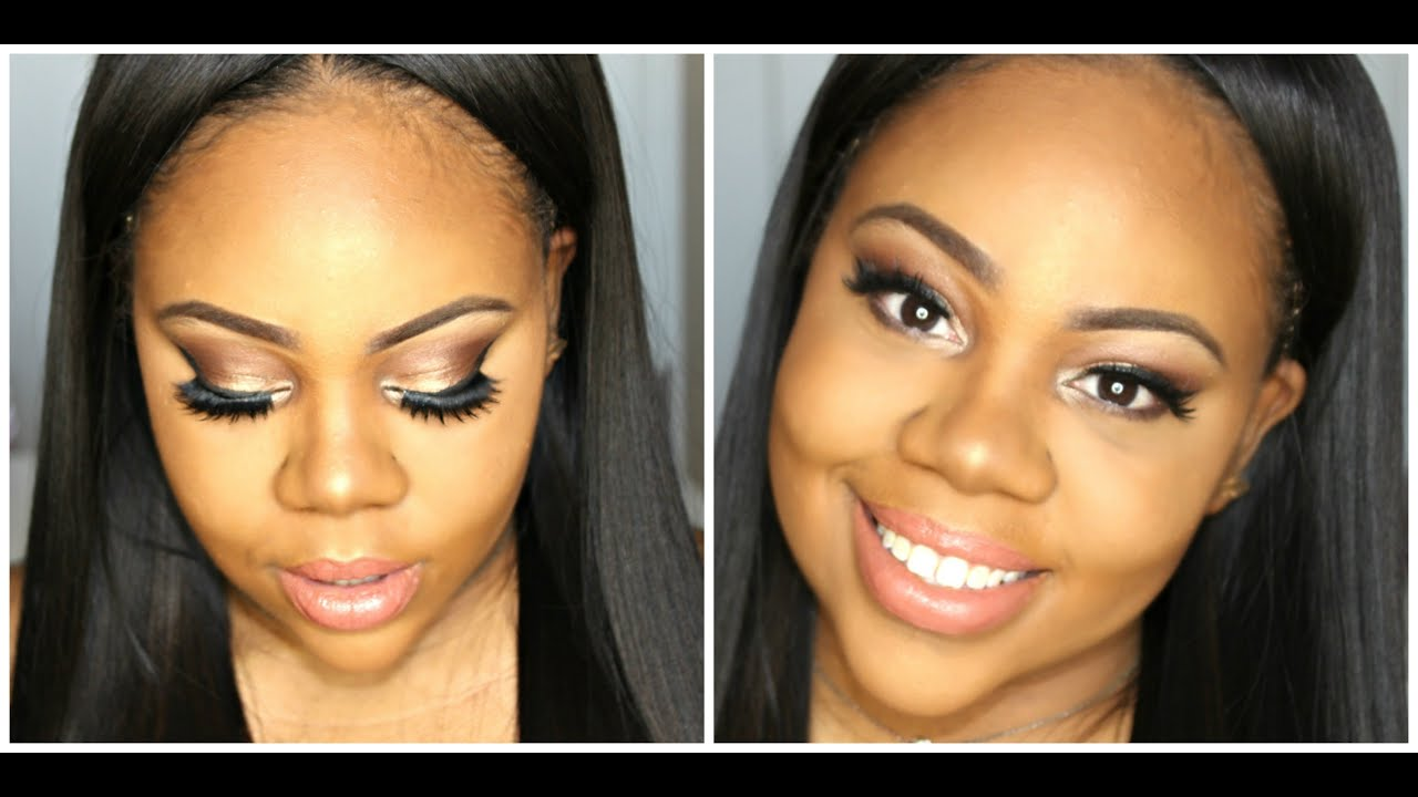 full face winter glow nude makeup tutorial for brown skin (beginner
