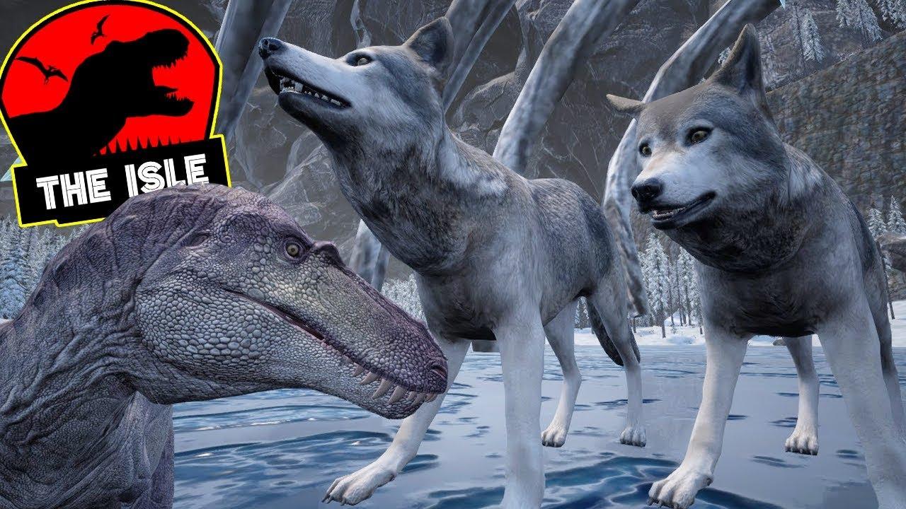 the isle fam237lia de lobos filhote trex utahraptor vs