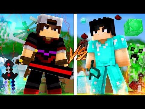Minecraft: CORRIDA PVP - ORESPAWN vs VANILLA!