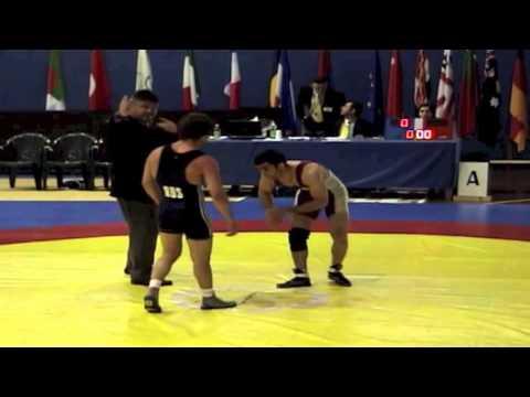 2008 Sassari International: 60 kg Saeed Azarbayjani (CAN) vs. Besik Kudukhov (RUS)