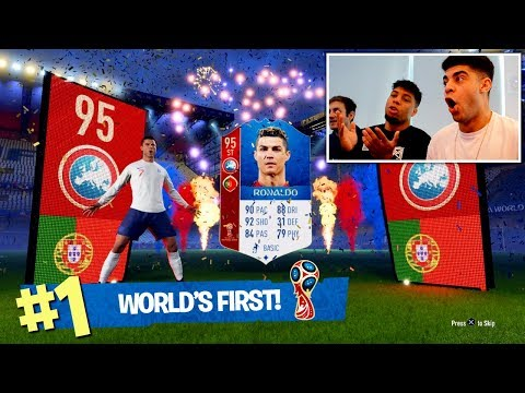 OMG FIRST IN THE WORLD TO PACK 95 ST RONALDO! - FIFA 18 WORLD CUP MODE!