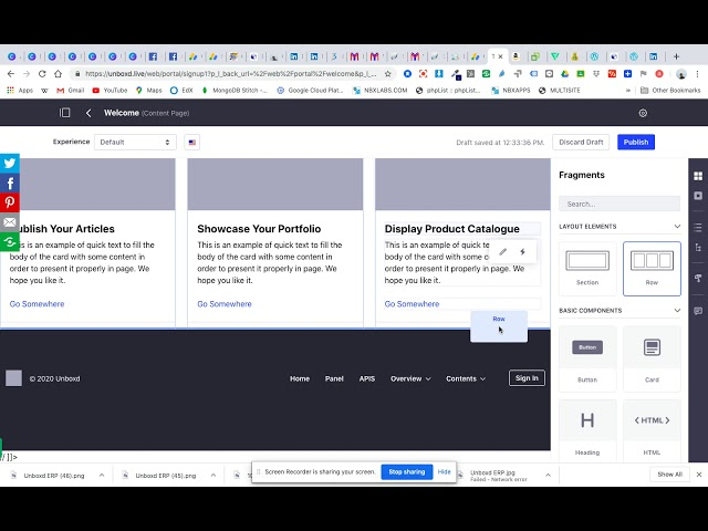 How To Create A Page In Unboxd Live - Part 1