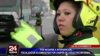 Conductor embistió a inspector de transporte de la Municipalidad de Lima