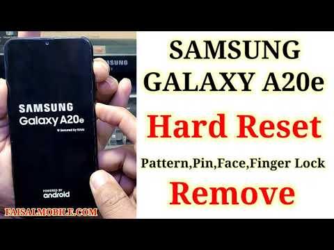 Hard Reset Samsung A20e || Unlock Pattern/Pin/Password/Face/Finger Lock