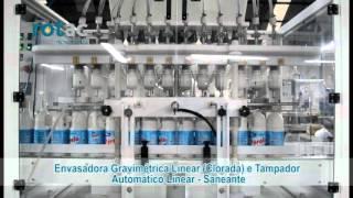 Envasadora gravimétrica Linear Clorada e Tampador Automático Linear   Saneantes