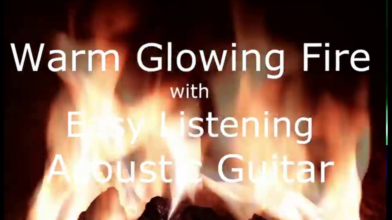 3 Hour Relaxing Fireplace with Acoustic Guitar for Cafe, Work ...