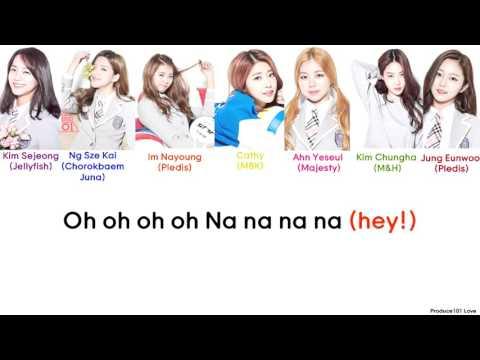 Produce 101 - Fingertips Color Coded Lyrics (Han/Rom/Eng)