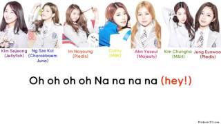 produce 101   fingertips color coded lyrics hanromeng